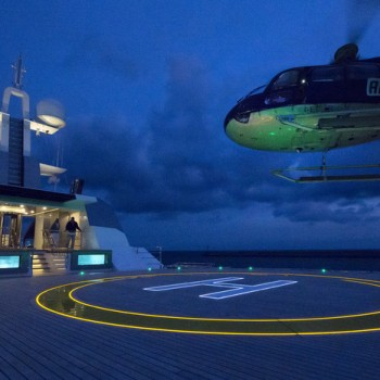 Certified-Helipad-aboard-Stella-Maris-Yacht-by-night
